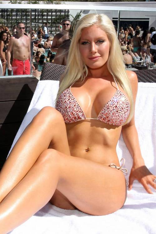 Heidi Montag - underwent breast implants to increase her breast size to an F-Cup.