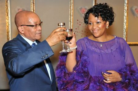 President Jacob Zuma and his fifth wife Thobeka Stacie Madiba (Source: faraitoday.com)