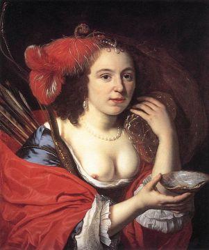Bartholomeus van der Helst. Anna du Pire as Granida. 1660. Oil on canvas. National Gallery, Prague.