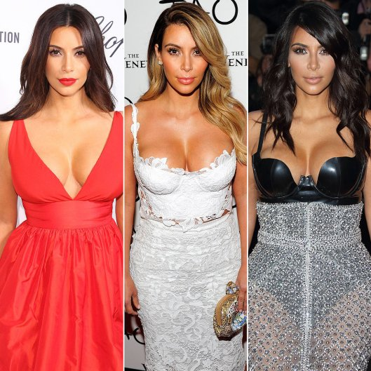 Kim Kardashian's cleavage (Source: popsugar.com)